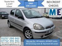 **£30 A WEEK** Toyota Yaris 1.3 16v VVTi CDX, 12M MOT, EW CD CL