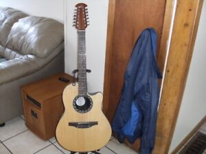 12 string ovation accoutic  electric