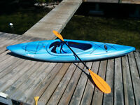 Pelican Pursuit 100 Kayak and paddle