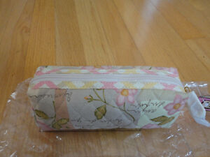 Brand new with tags Maggi B quilted floral makeup pouch bag London Ontario image 4