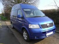 2007, VW T5 CAMPER VAN, HI TOP, CONVERSION 2015, 4 BERTH, 4 SEAT BELTS