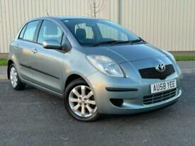 2008 58 TOYOTA YARIS 1.3 VVT-i TR 5 DOOR 59,000 2 LOCAL LADY OWNERS * ALLOYS
