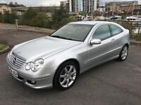 2004 MERCEDES C-CLASS C180 KOMPRESSOR SE SPORTS COUPE PETROL