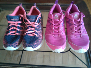 Girls sneakers! Size 3 and 4!