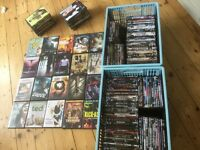 Over 220 DVD copies all in cases