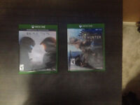 Selling Monster Hunter World and Halo 5 for xbox one