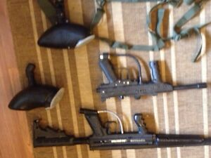 Paintball with accessories