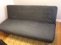 Ikea Sofa Bed with black slip cover