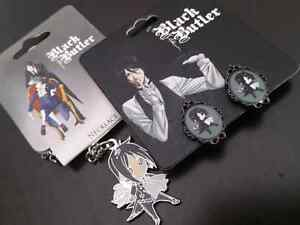 Black Butler Anime Necklace & Earings Cambridge Kitchener Area image 1