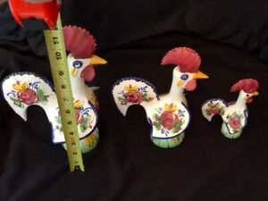 Portuguese Roosters - Ceramic - Set of 3