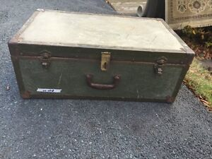 Antique Metal Military Trunk