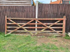 Wooden 5 bar gate