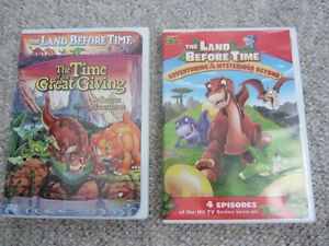 Land Before Time DVDs - The Time Of The Great Giving & TV Series