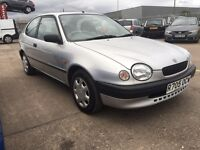 Toyota Corolla 1.3 Petrol Manul, 12 Months MOT, Service History, 1 Former Keeper. Drives Brilliantly