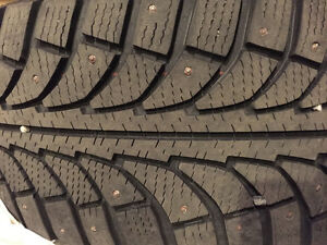 4 x Studded Winter Tires on Rims - Excellent Condition