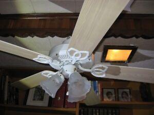 Ventilateur de plafond.