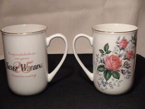 25th Silver Wedding Anniversary Mugs