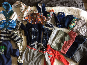 Lot of spring and summer clothes toddler boy 12 mo and 12-18 mo