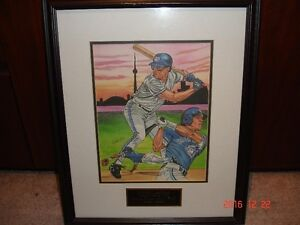 Signed Limited Edition print of Roberto Alomar