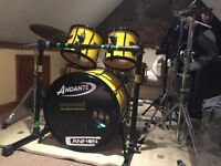 Custom made birch 5 ply drum kit