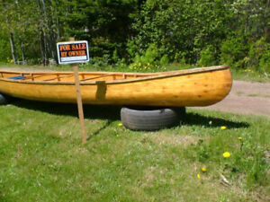 Cedar Canoe For Sale - nice 16 foot , hand crafted
