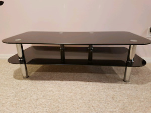 Tempered glass TV stand/ coffee table