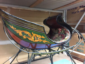 Vintage ONE HORSE OPEN SLEIGH!