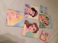 Bundle Disney princess canvases