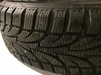"""4 Ice Blizzard Winter Tires with 15"""" Toyota Corolla 5 Lug Steel"""