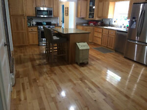 Kitchen solid maple cabinets and granite counter