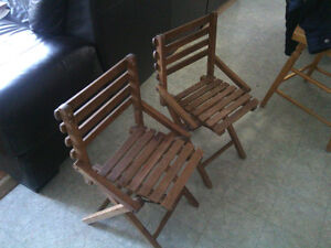 Pair kids camp chairs