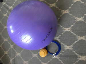DANSKIN EXERCISE BALL with Air Pump - Clean Never Used