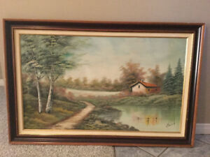 Real oil on canvas painting signed by artist