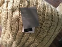 Brand New - M&S Heavy Knitted Throw/Blanket