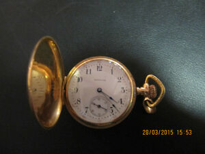 Vintage Waltham Model 1890 14K Gold Pocket Watch Circa 1902