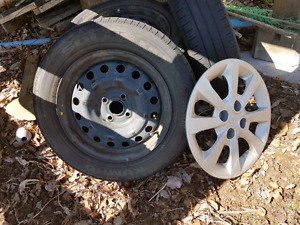 Steel rims with hub caps $200.00 obo