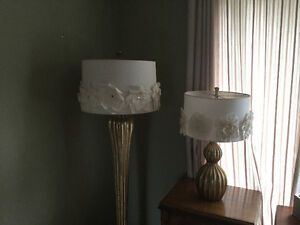 Pier One Floor and Table Lamp Set