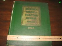 MOTOR TRUCK AND TRACTOR REPAIR 1954 HC BOOK MANUAL