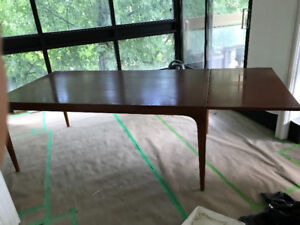 1958 Danish Mid-Century Dining Table and Credenza