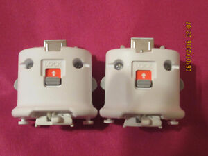 two Genuine Nintendo Wii Motion Plus Adapters