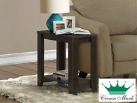 Brand NEW Cappuccino Side Table! Call 506-474-4444!