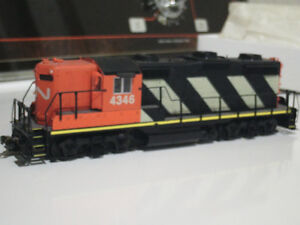 HO scale CN GP locomotive for electric model trains