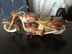 Hand carved wooden Harley Davidson Motorcycle
