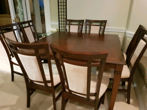 8 seater adjustable dining table set