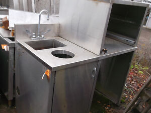 Stainless Steel Counter with Sink, #776-14