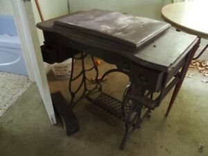 older sewing machine table