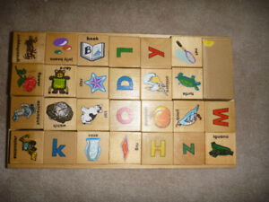 Melissa and Doug Wooden ABC picture Blocks