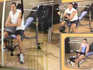NEW IN BOX - WEIGHT BENCH WITH ARM/LEG CURL Kitchener / Waterloo Kitchener Area image 1