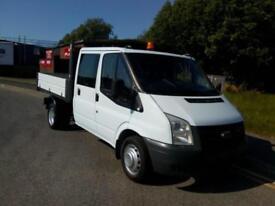 "FORD TRANSIT T350 DOUBLE CAB TIPPER 2008""58"" REG 72,000 MILES £7,995.00 *NO VAT*"