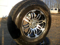 17in mags & 16in factory wheels and winter ice radials4 chev/GMC